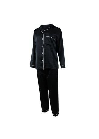 Black color Pyjamas . Eight Piece - Piyama Lengan Panjang -