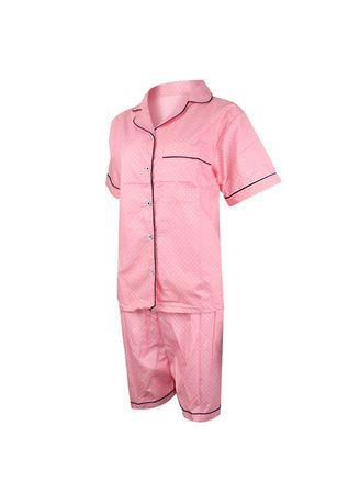 Pink color Pyjamas . Eight Piece - ONDE POLKADOT PP -
