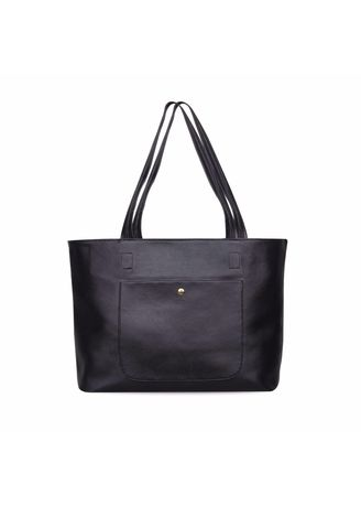 Black color Hand Bags . Quincy - Tote Bag Ruby Pocket Free Dompet -