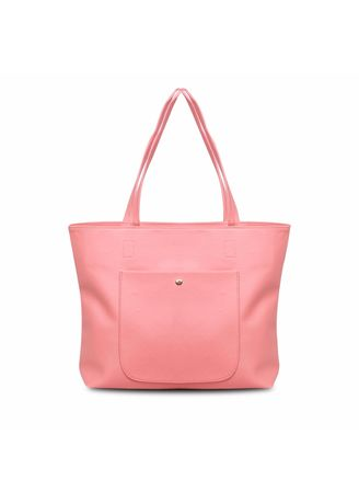 Pink color Hand Bags . Quincy - Tote Bag Ruby Pocket Free Dompet -