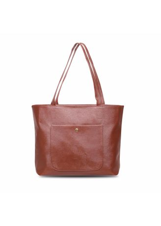Brown color Hand Bags . Quincy - Tote Bag Ruby Pocket Free Dompet -