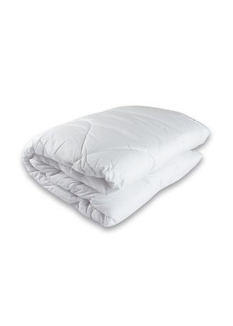 White color Bedroom . IndoLinen Inner/Insert/Quilt Duvet (Isian Bedcover) Silicon Super Single -