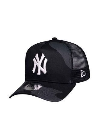 f81d8c460f3 New Era New York Yankees MLB Camo Black Trucker 9FORTY A-Frame Cap