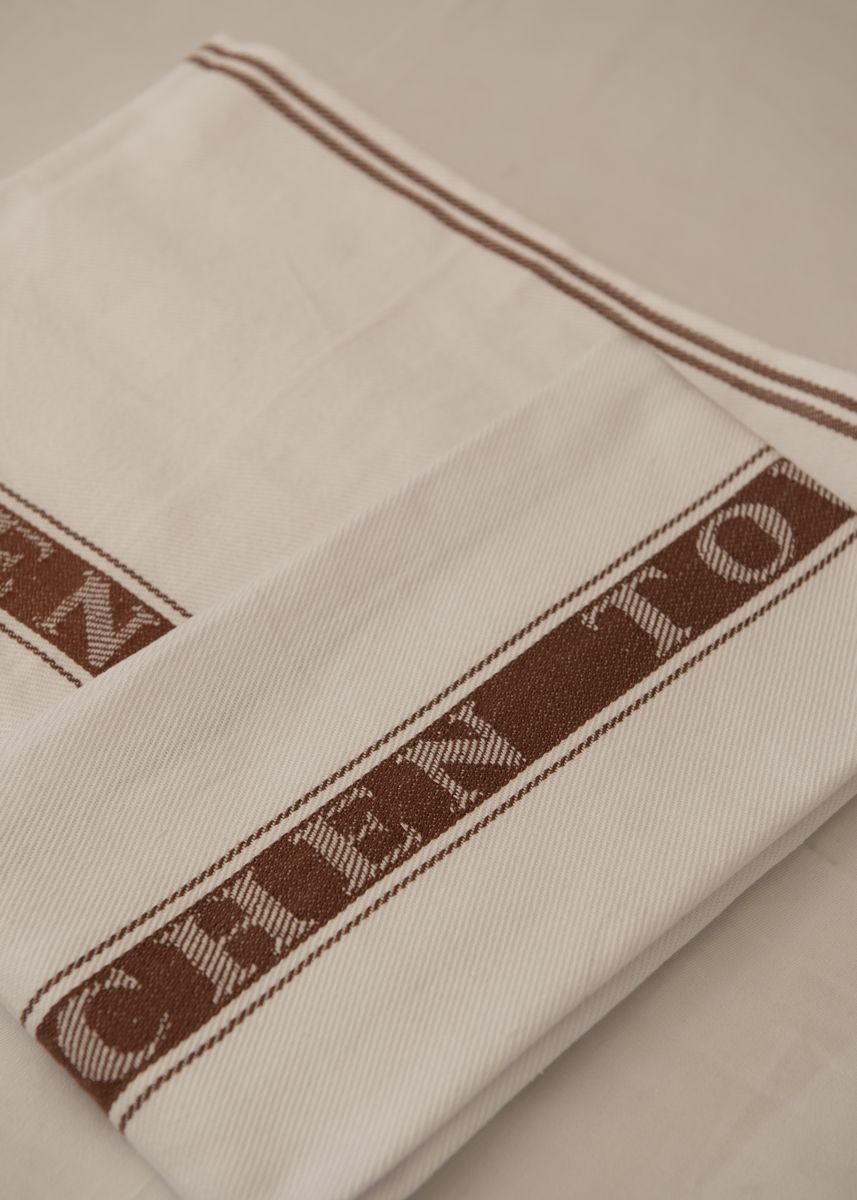 Brown color Kitchen . IndoLinen Kitchen Towel - Lap Dapur / Lap Meja -