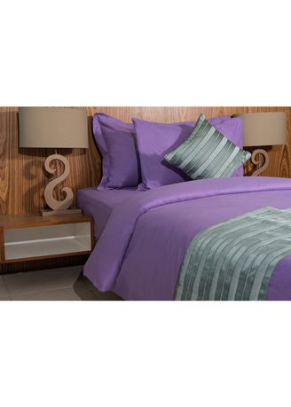 Bedroom . IndoLinen Set Sprei Warna Polos - Queen -