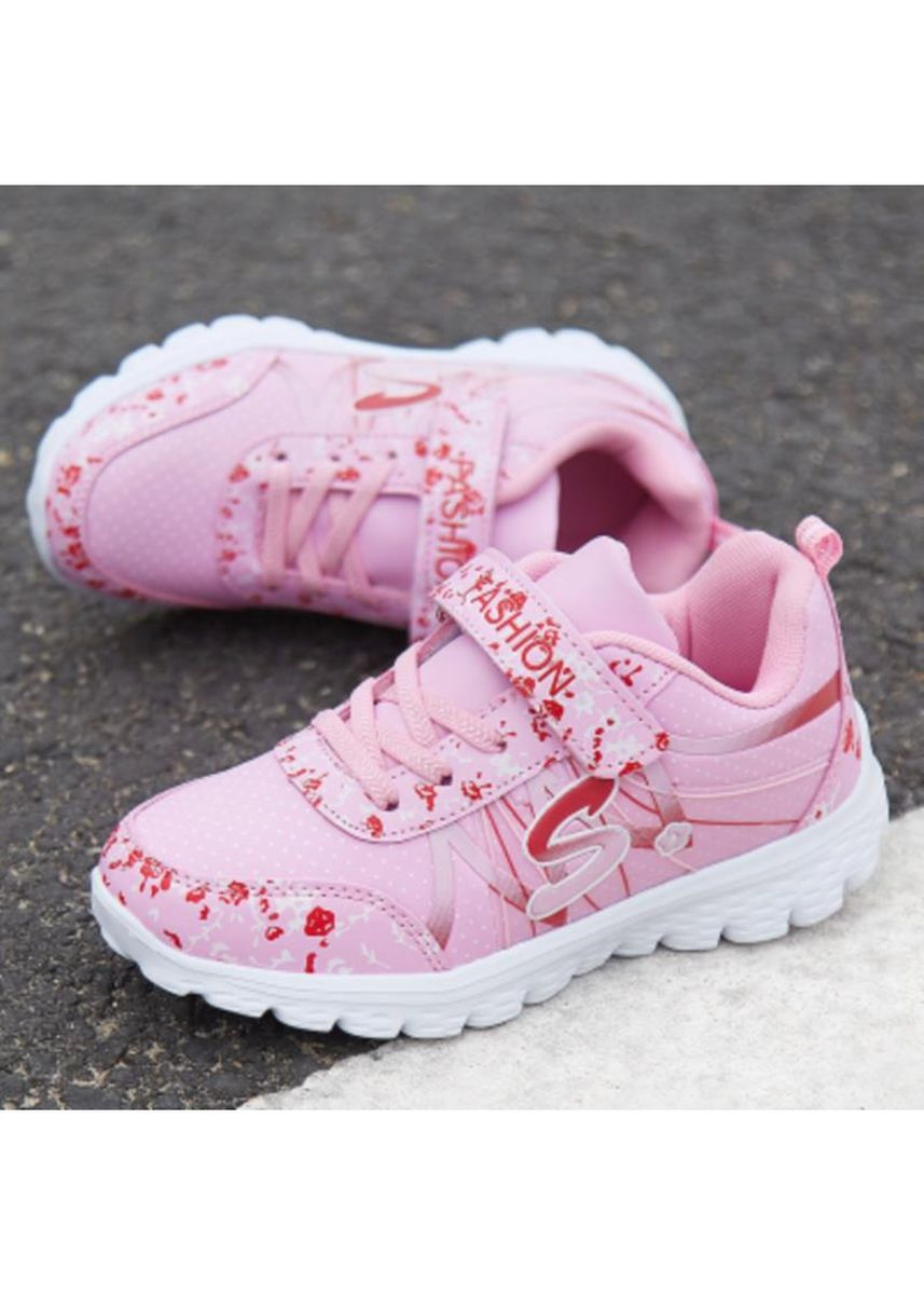 ชมพู color รองเท้า . Spring and winter children running casual girls sports shoes children's shoes junior high school students youth children's shoes -