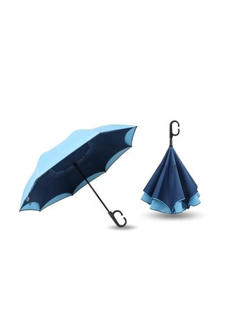 Navy color Home Decor . Anti - Ultraviolet Car Umbrella -