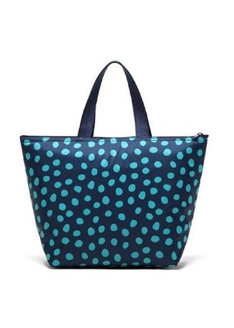 Blue color Hand Bags . US Thickened Insulated Polka Printed Handbag -
