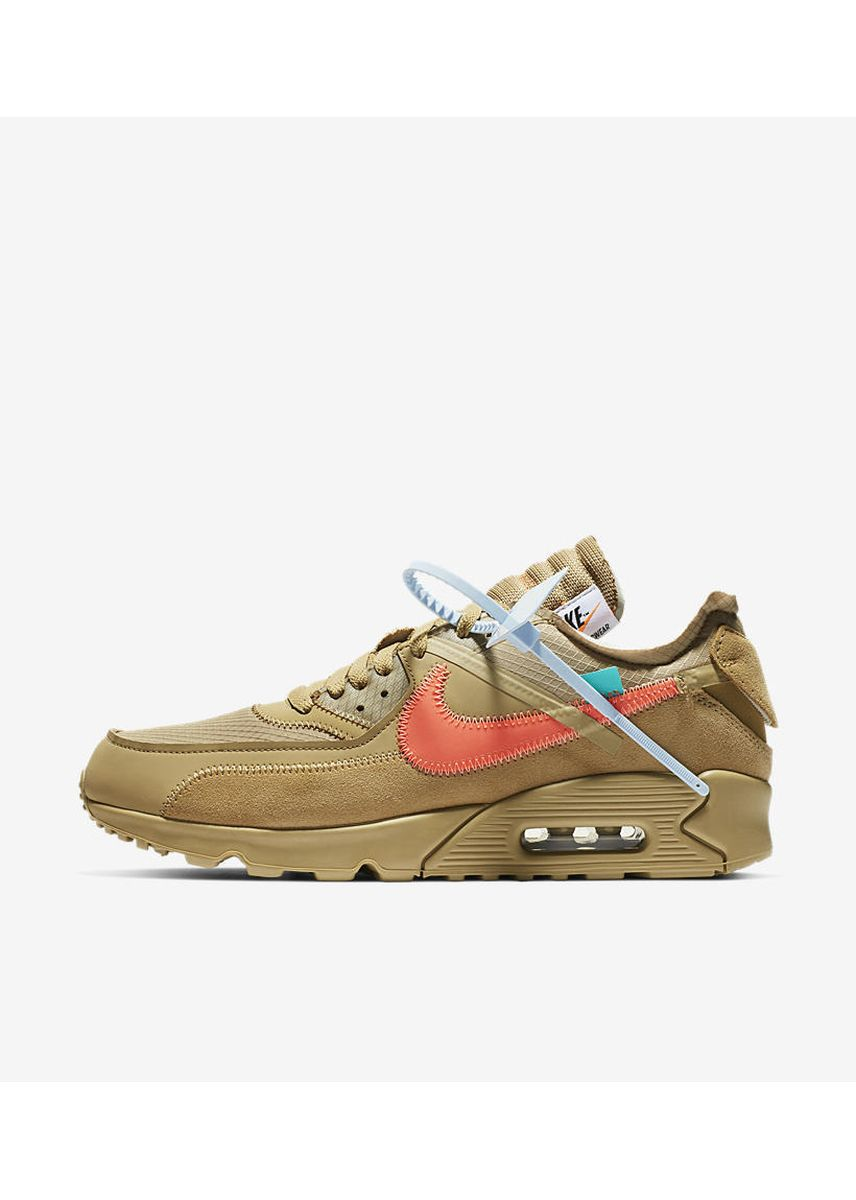 Brown color Casual Shoes . Nike x Off White Air Max 90 Desert Ore -