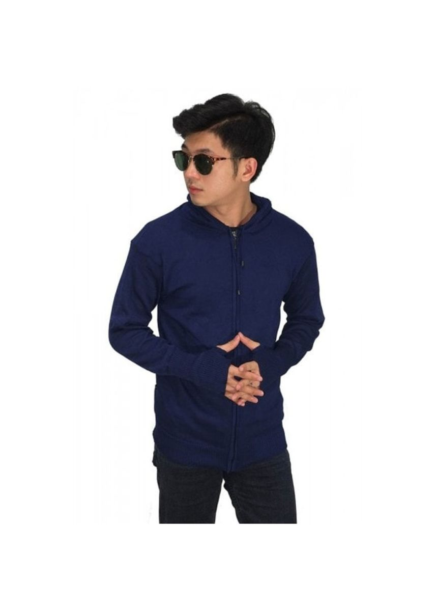 Biru Dongker color Sweater . Sweater Rajut Pria Korea Navy -
