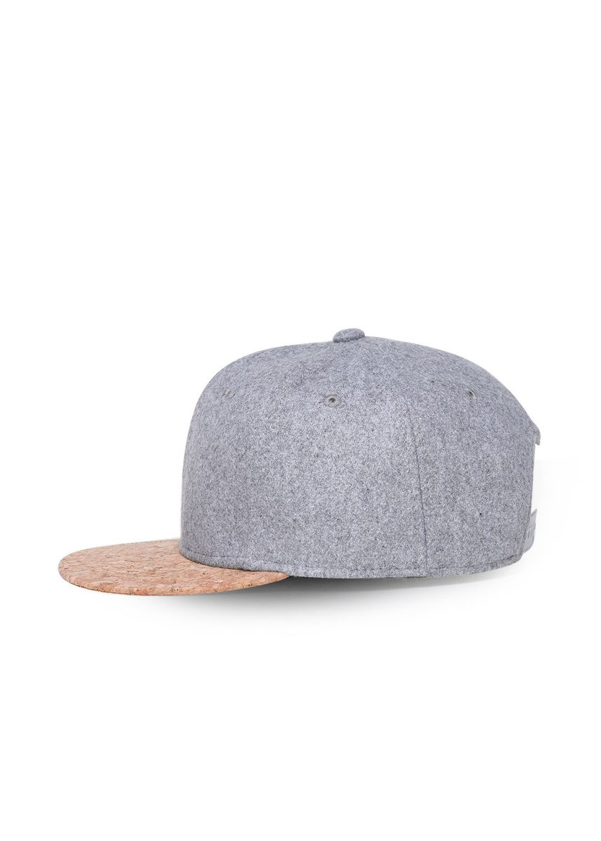 Grey color  . Solid Color Fashion Adjustable Caps -