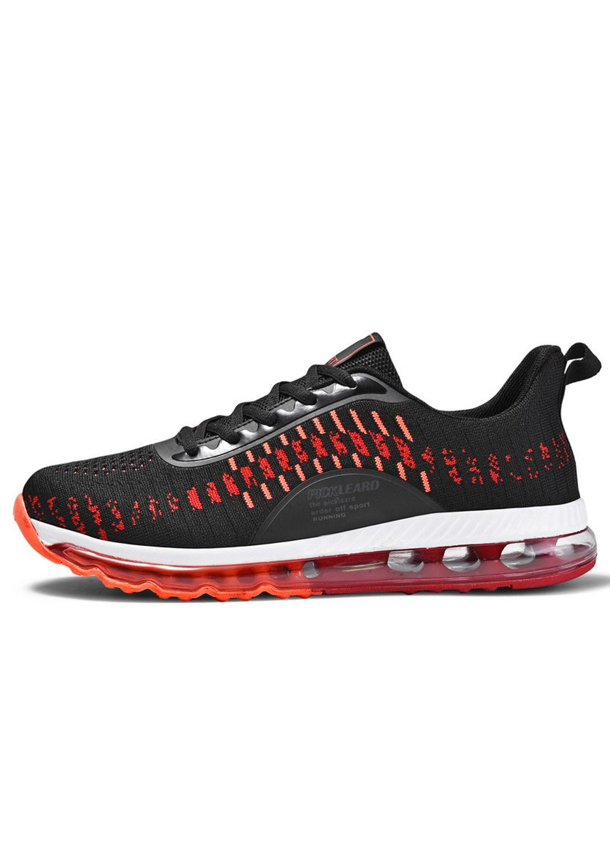 แดง color รองเท้ากีฬา . Air cushion breathable running shoes large size shoes for men -