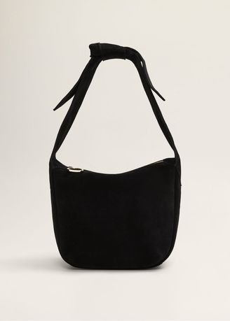 Hand Bags . Mango Bow Leather Bag -