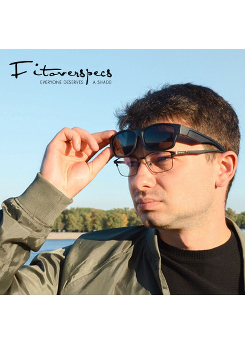 Grey color Sunglasses . Fitoverspecs Fit Over Wear Over Sunglasses - DFS2 -