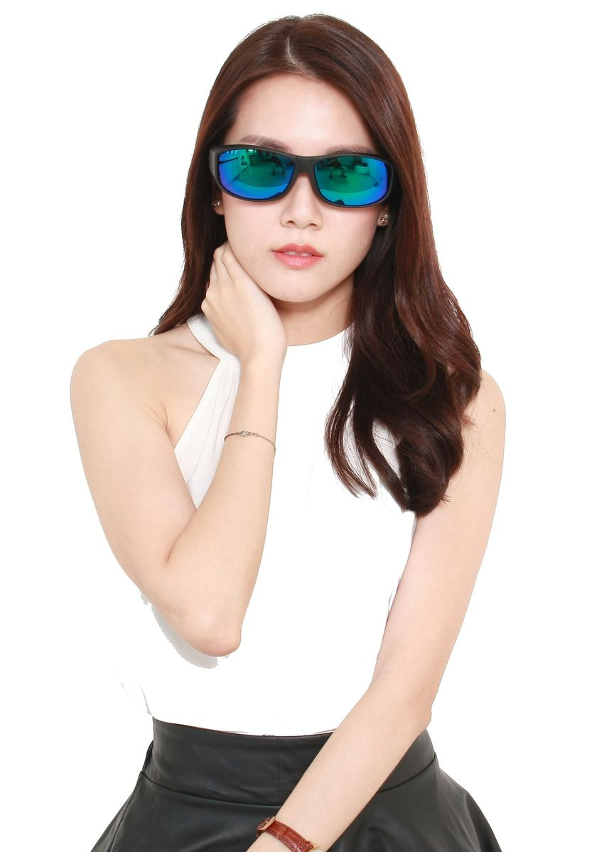 Black color Sunglasses . Fitoverspecs Fit Over Wear Over Sunglasses - FS5B -
