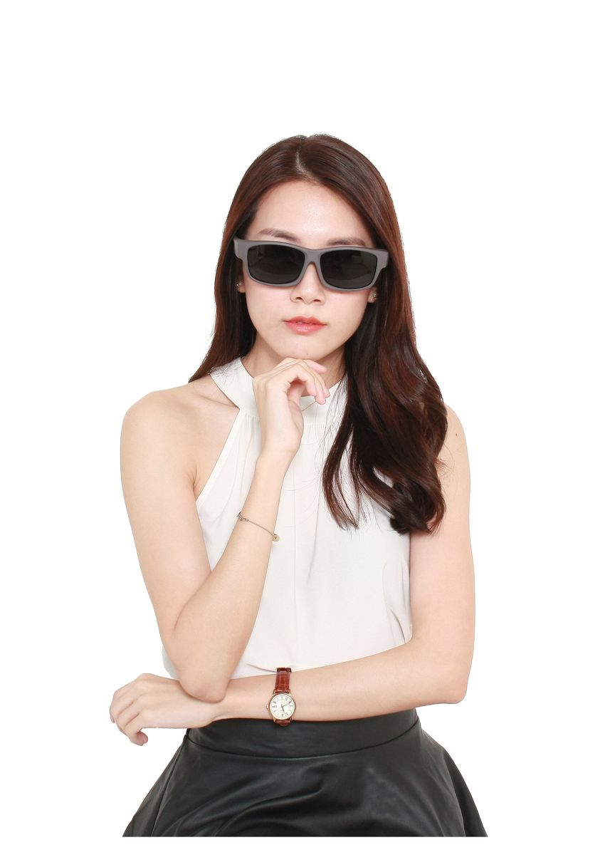 Grey color Sunglasses . Fitoverspecs Fit Over Wear Over Sunglasses - DFS2A -