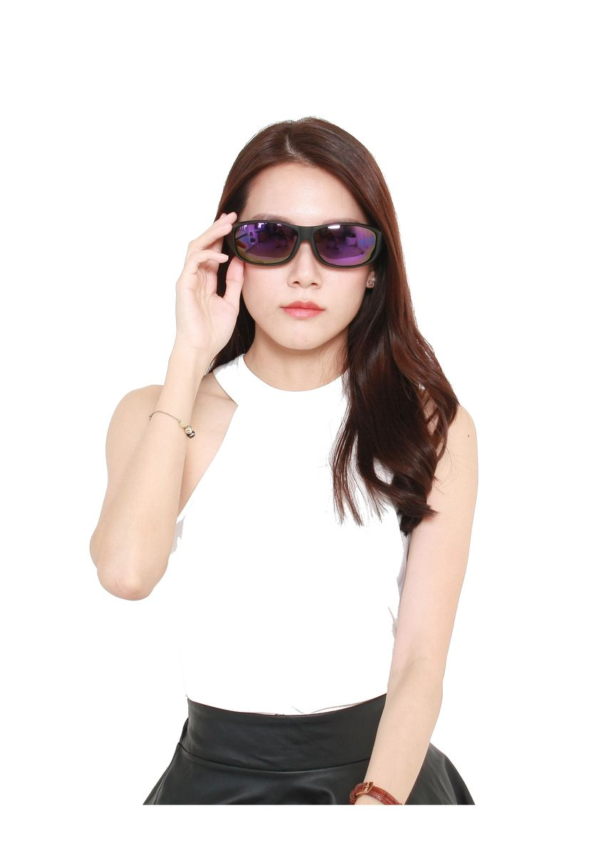 Black color Sunglasses . Fitoverspecs Fit Over Wear Over Sunglasses - FS5P -