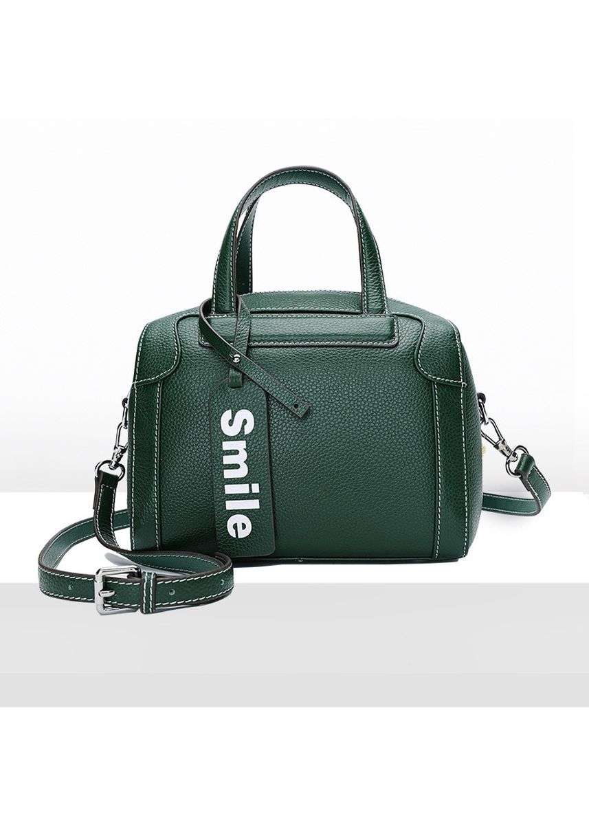 Green color Hand Bags .   Reclining Shoulder Leather Female Bag -