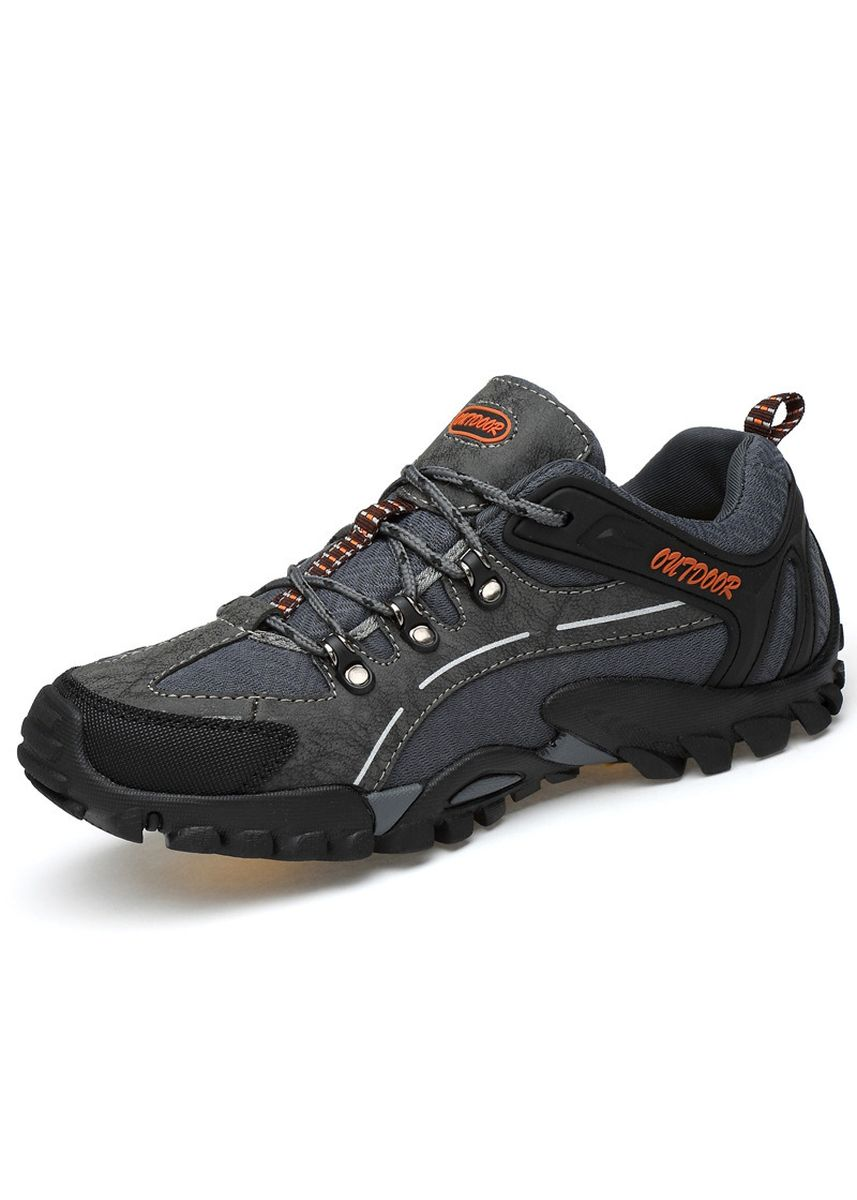 Grey color Sports Shoes . Men's Outdoor Sports Shoes, Non-slip Wear-resistant Hiking Shoes -