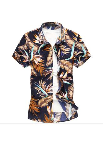 Multi color Casual Shirts . Men's Shirt Casual Fashion Printed Designs Short Sleeve  -