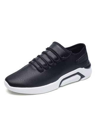 Black color Sports Shoes . Outdoor Sport Jogging Sneakers Lace-Up Running Shoes -