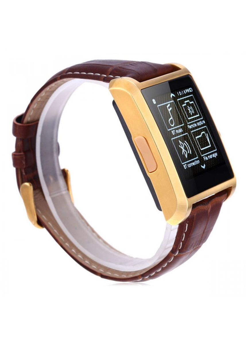 Gold color Digital . Smart Watch Phone With Bluetooth Call And Sms  -