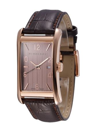 Black color Analog . Burberry BU3000 Men's Classic Leather Watch -