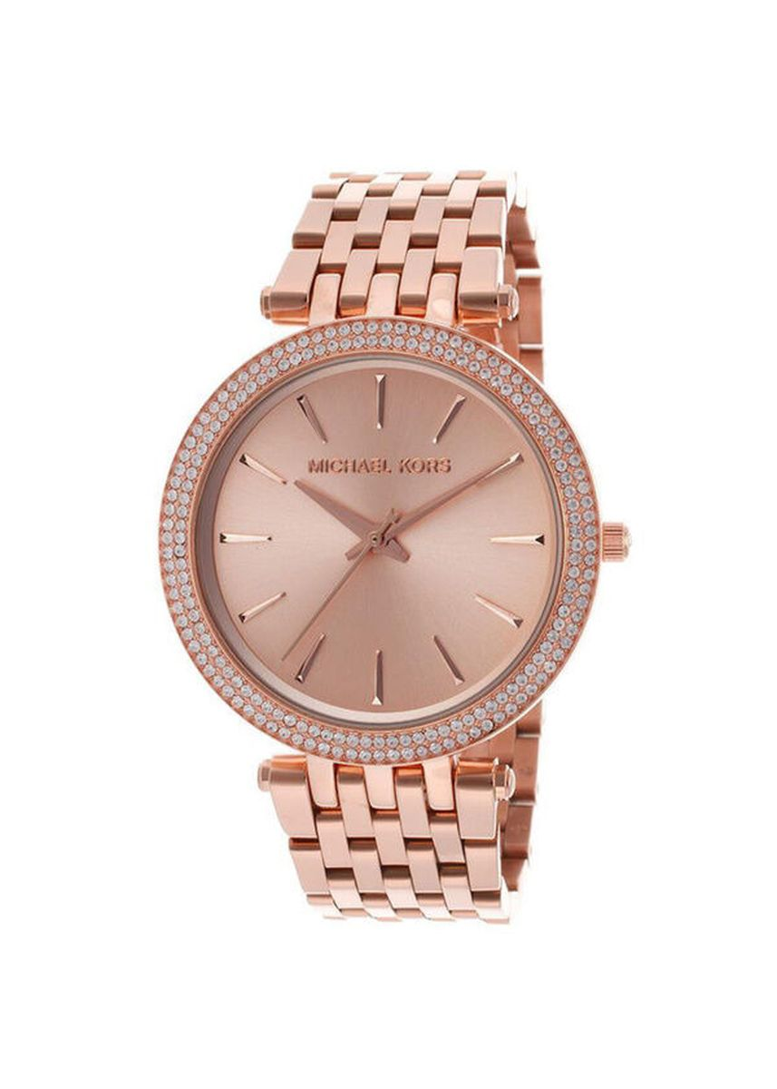 Pink color Analog . Michael Kors MK3192 Darci Rose Gold Dial Pave Bezel Ladies Watch -