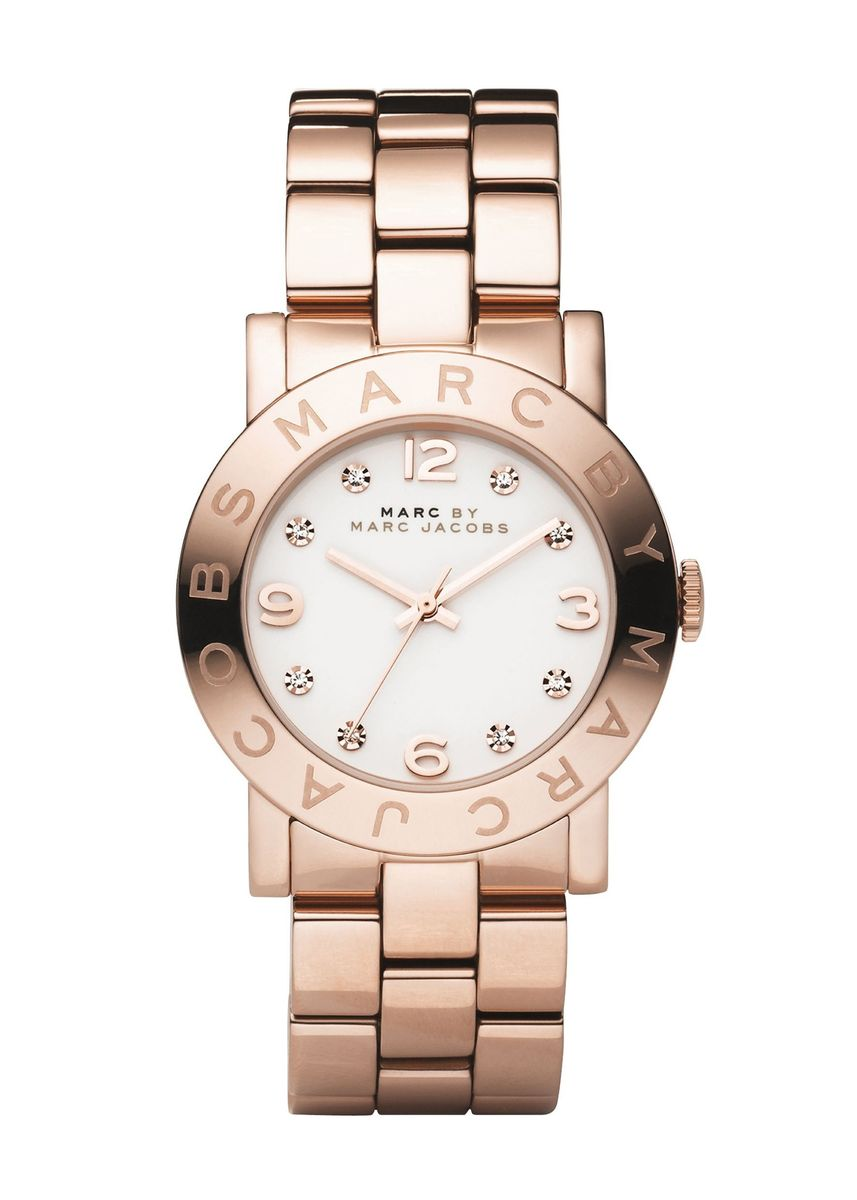 Pink color Analog . Marc By Marc Jacobs MBM3077 Amy Rose Gold-Tone Stainless Steel Womens Watch -
