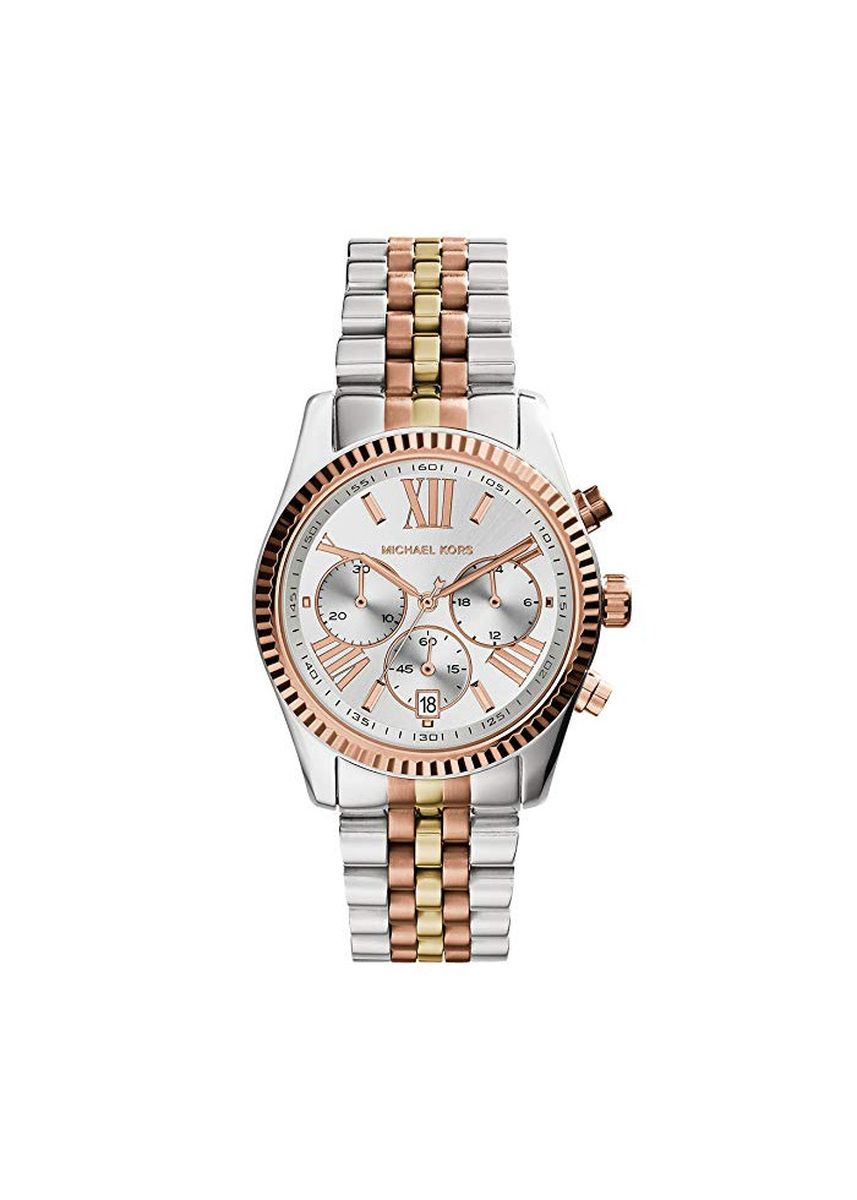 Silver color Chronographs . Michael Kors MK5735 Lexington Chronograph Tri-Tone Ladies Women's Watch -