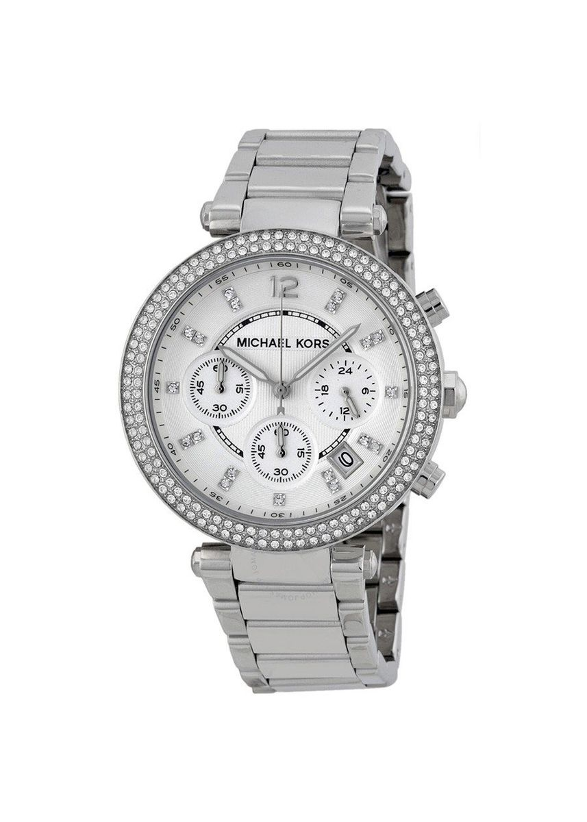 Silver color Chronographs . Michael Kors MK5353 Parker Silver Dial Stainless Steel Chronograph Ladies Watch -