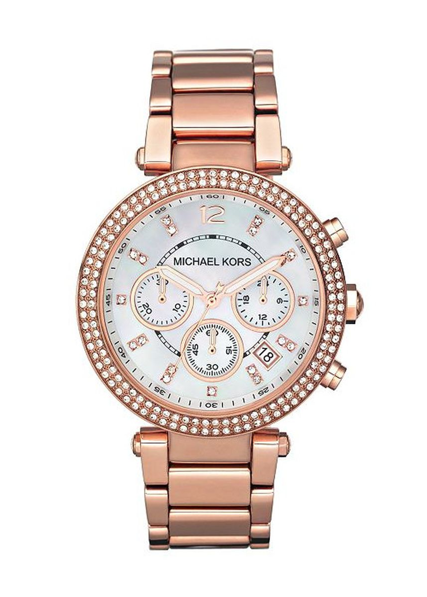 Pink color Chronographs . Michael Kors MK5491 Women's Chrono Rose Gold Watch -