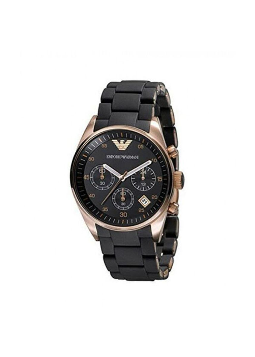 Black color Chronographs . Emporio Armani AR5906 Sportivo Chronograph Women Watch -