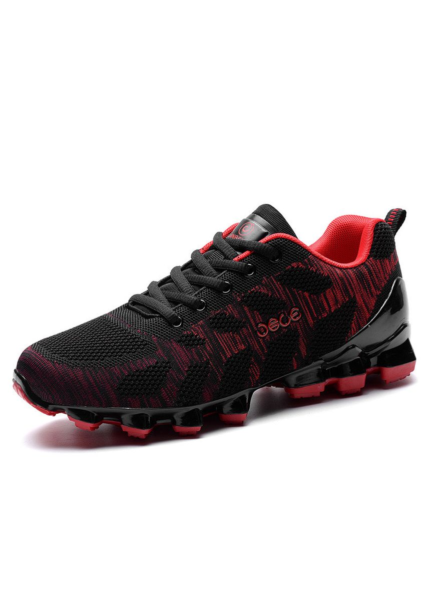 Red color Sports Shoes . Cool Breathable Air Cushion Sports Shoes Men's Flying Line Running -