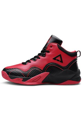 Red color Sports Shoes . And High Basketball Shoes Men's Non-slip Shock Absorption Running -