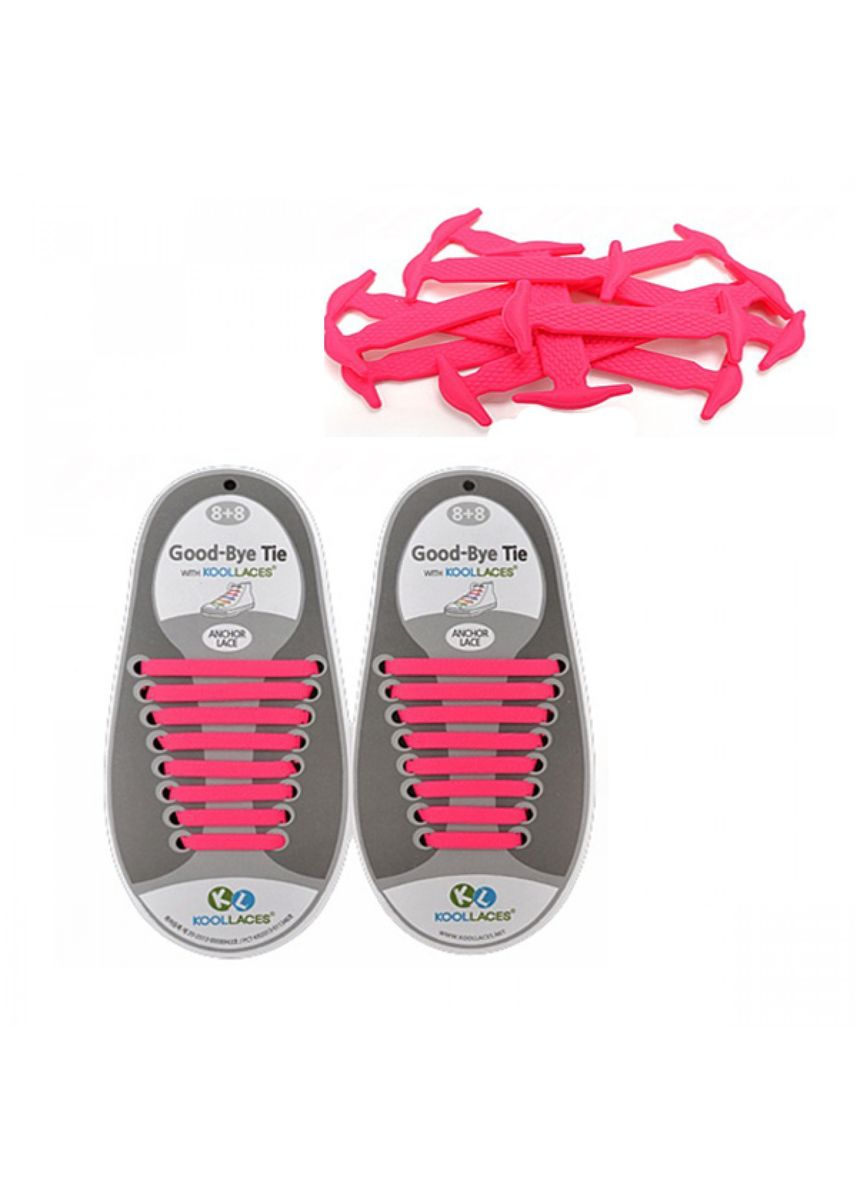 Pink color Shoe Laces . No Tie Silicone Shoelaces Size For Adult - Pink -