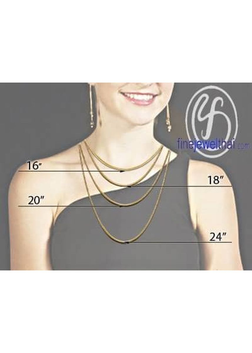 Silver color  . Finejewelthai-สร้อย-สร้อยคอ-สร้อยคอเงิน-เงินแท้-Silver-Chain-Necklace - LRLH11_16 -
