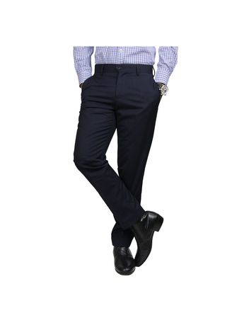 Navy color Formal Trousers . IDENTITY Men's Stylish Corporate Trousers -