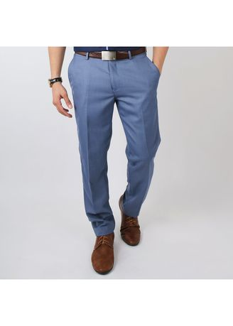 Blue color Formal Trousers . IDENTITY Men's Stylish Corporate Trousers -
