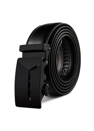 Men Genuine-Leather-Ratchet-Dress-Belt-with-Automatic-Buckle-Black-Red-White