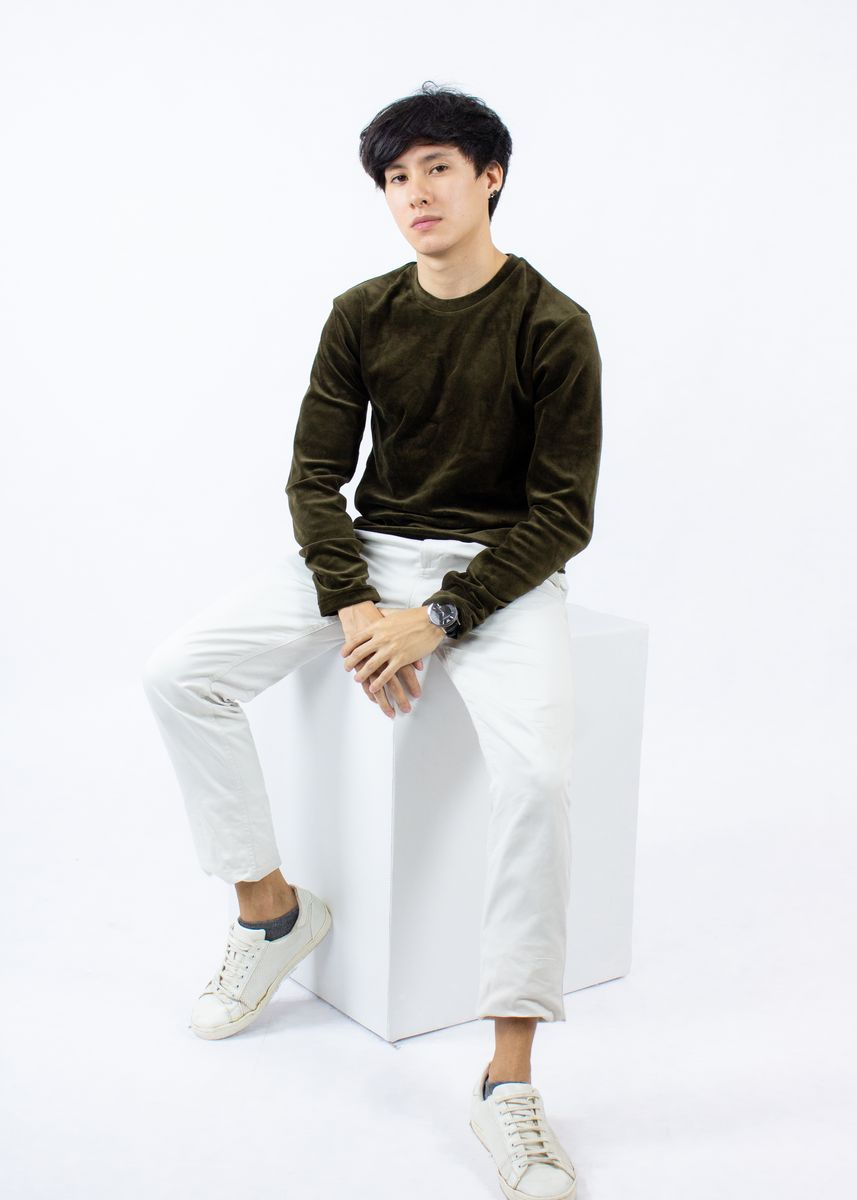 Brown color T-Shirts and Polos .  Whatsup Velvet with elbow patch T-shirt -