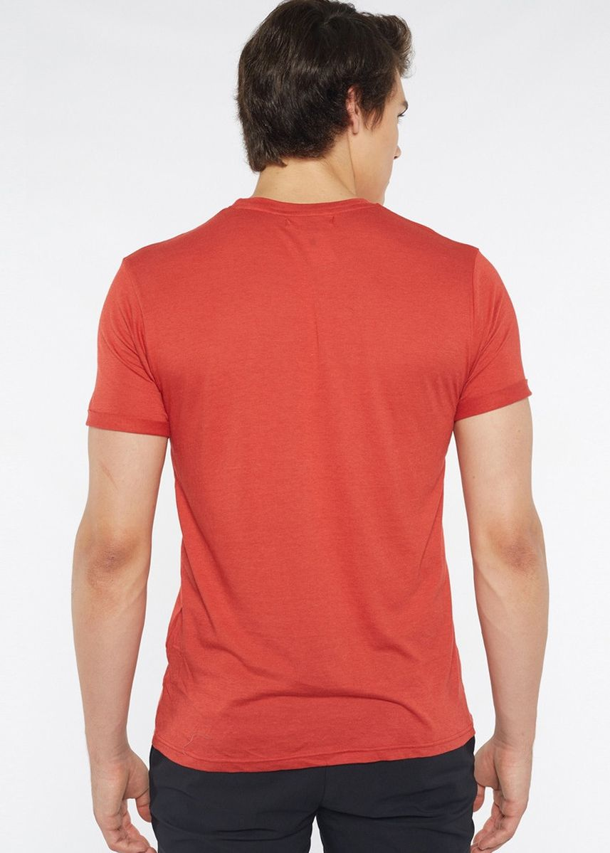 Red color T-Shirts and Polos . Août Singapore - Mens Crew Neck Cotton T-Shirt - Lola -