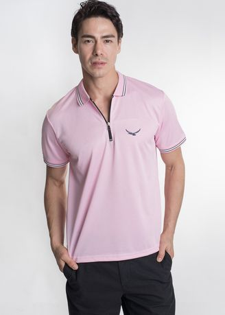 Pink color T-Shirts and Polos . Août Singapore - Mens Dri-Fit Polo Shirt - Romy -