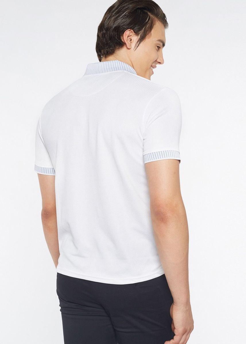 White color T-Shirts and Polos . Août Singapore - Mens Dri-Fit Polo Shirt - Elodie -