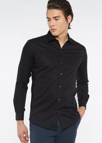 8d1c3ef567f Août Singapore - Mens Long Sleeved Cotton Dobby Formal Shirt - Joanne
