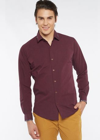 72c67343e62 Août Singapore - Men s Long Sleeved Fil-A-Fil Cotton Shirt - Elaina