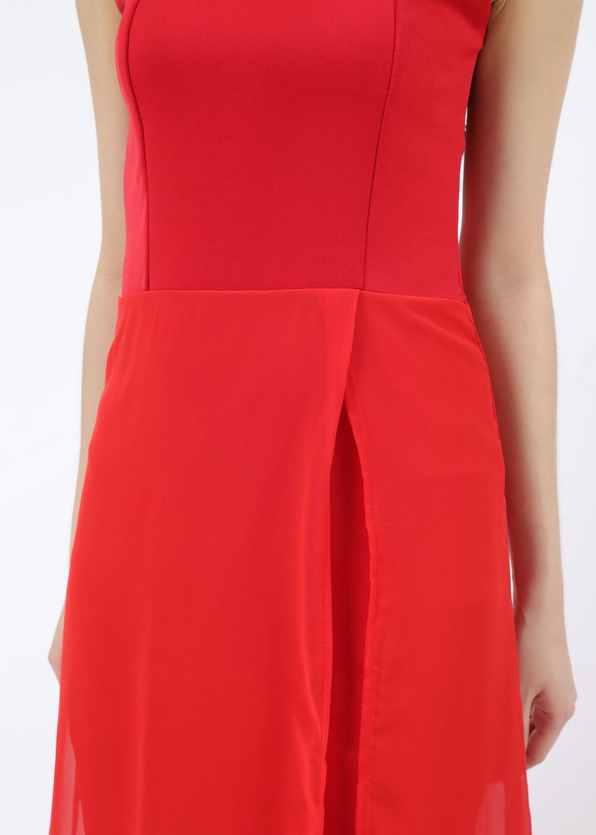 Merah color Terusan/Dress . Dress Seeme -