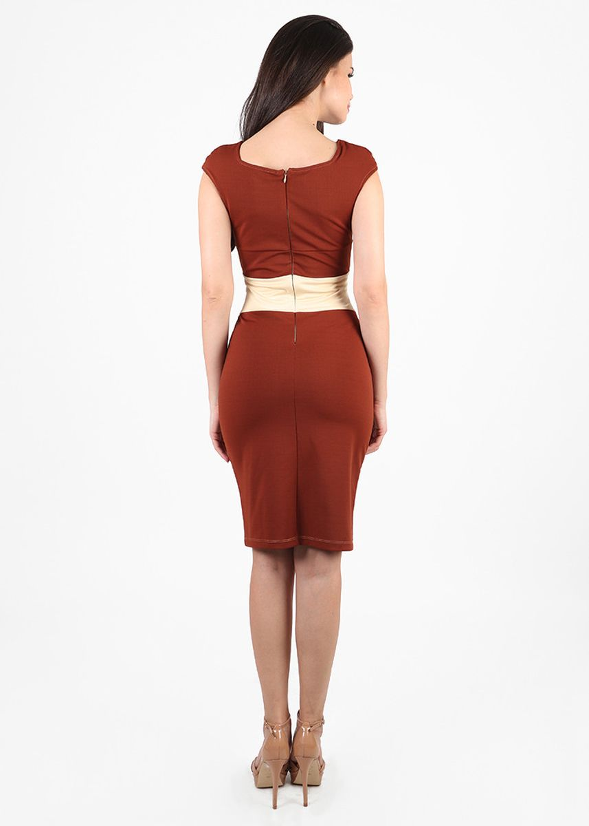 Brown color Dresses . NYC Office Dress  -