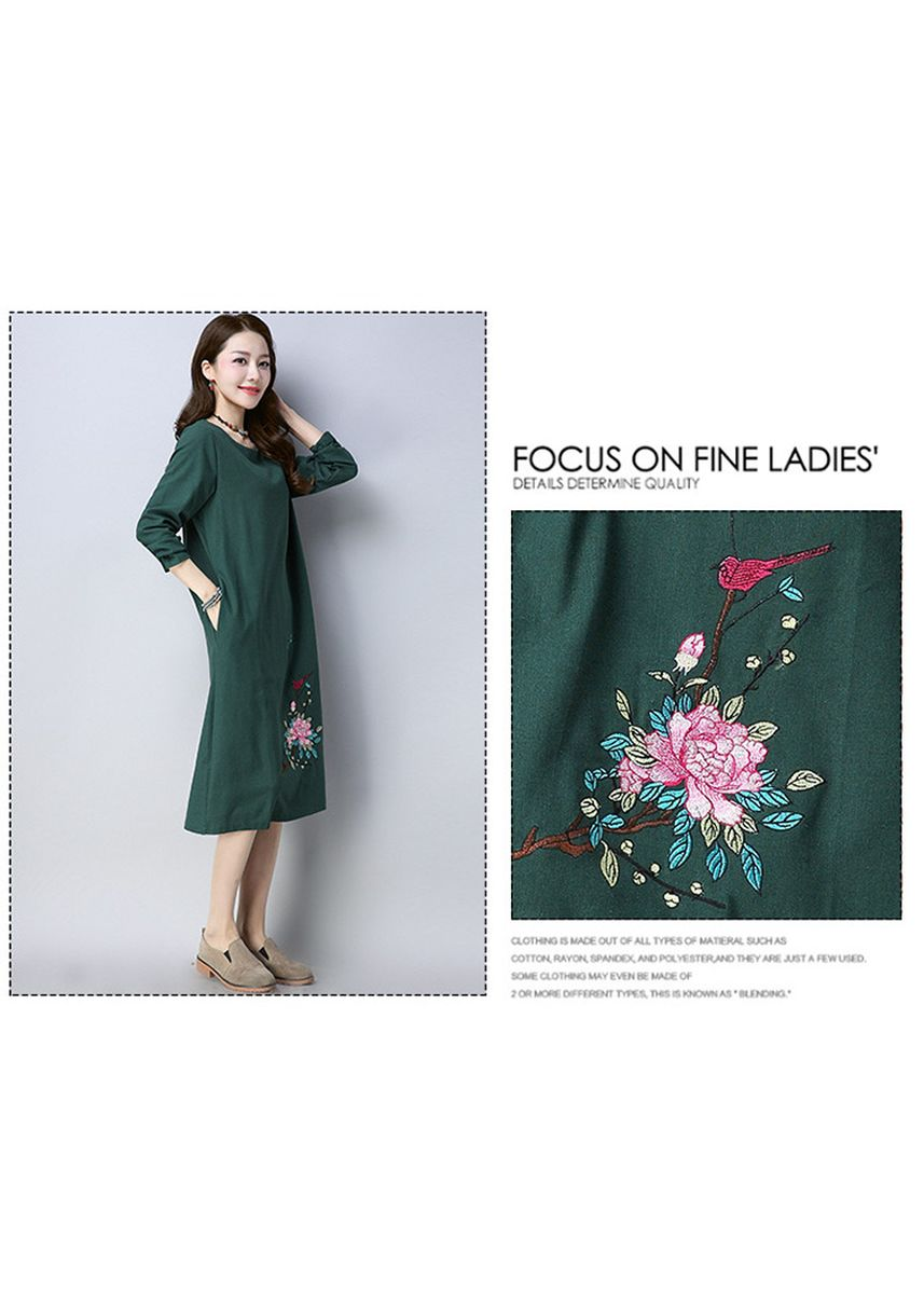 Green color Dresses . Lady Maxi  A-Line Dress Dinner Party Causal Ethic -