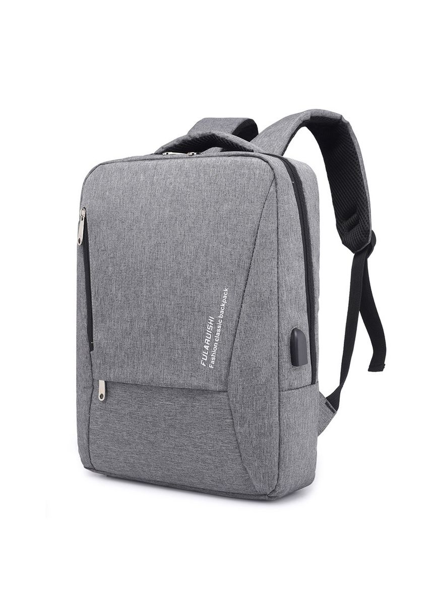 Light Grey color Backpacks . Business Men's USB Charging Backpack Multifunction Laptop -